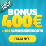 Lucky dino talletusbonus 100 ilmaiskierrosta