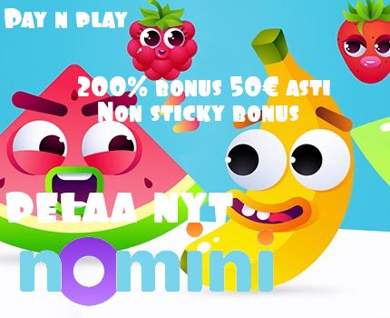 nomini casino 200% talletusbonus, pay n play nettikasino non sticky bonus